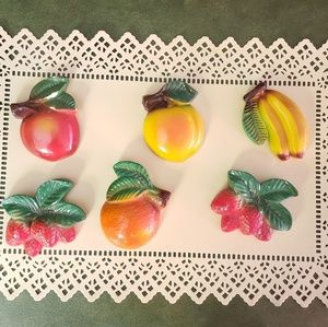 Other - VINTAGE CHALK WARE MID CENTRY FRUIT WALL PLAQUES